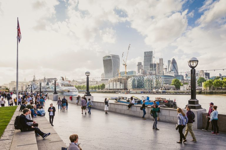 CIty of London from South Bank