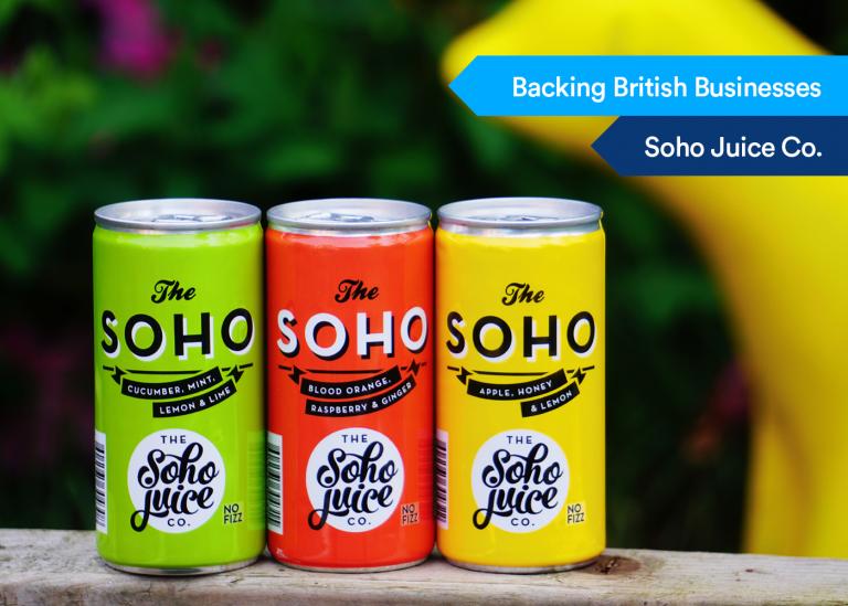 Backing British Businessess Soho Juice Co
